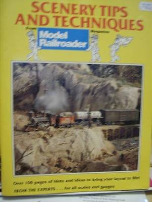 Scenery Tips & Techniques 1990 Book -Model Railroader-All Scales & Gauges