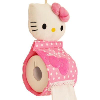 Hello Kitty Soft Plush Hanging Roll Toilet Paper Holder Tissue Cover home tools
