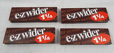 4 Packs Brand EZ-WIDER 1-1/4 Rolling Papers