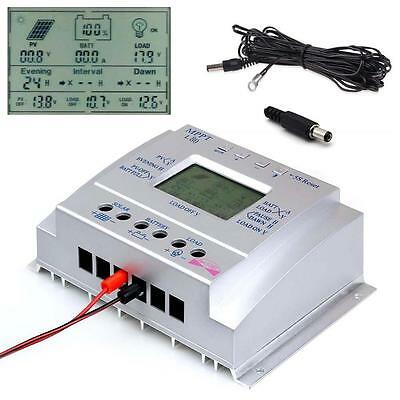 80A MPPT Solar Battery Regulator Charge Controller 3-timer & USB+ 16ft Cable TR