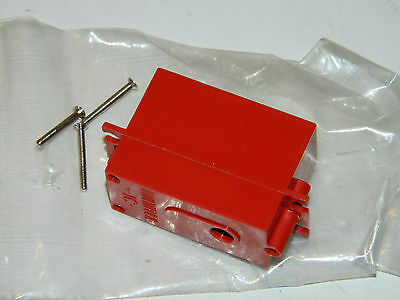 vintage MULTIPLEX IC-SERVO case BOITIER 30 x 50 x 19mm GERMANY RED rc parts
