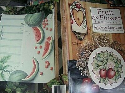 Fruit & Flower Fantasies Book-Morrison, Hearts, Tulips, Daisy, Wild Roses Holly