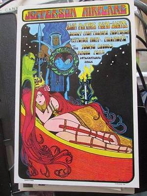 Jefferson Airplane 1999 Concert Handbill Postcard Approx 4.5x6.75 Inches