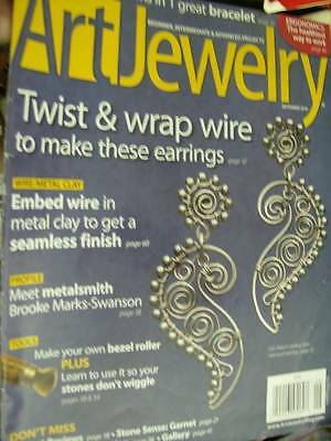 Art Jewelry Magazine 2010 - 2 Chain Mail Patterns, Wire Earrings, Prevent Wiggly