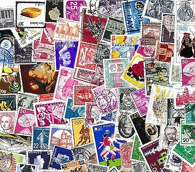 Collection Of 200 World Stamps, All Different, Mint, Used, Old & New