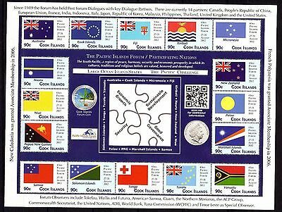 Cook Islands 2012 Pacific Forum Flags MNH
