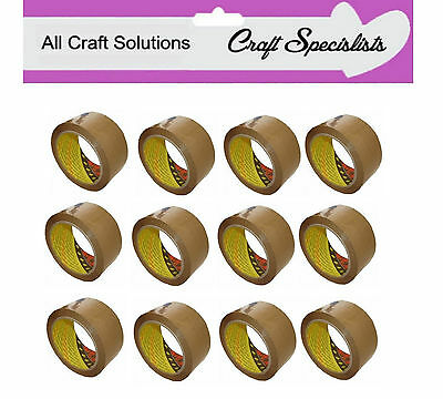 1 ROLL 3M BROWN SCOTCH PACKING PARCEL TAPE 66m LONG x 48mm WIDE