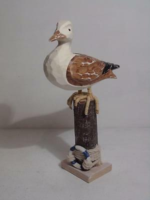 Carved wooden Seagull FREE UK P & P
