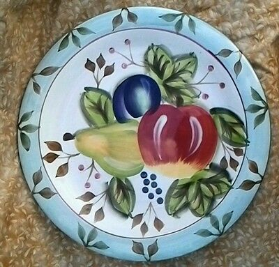 "Black Forest Fruits Platter Plate, 10-1/2"" Across, Heritage Mint"