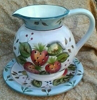 Black Forest Fruits Pitcher by Heritage Mint Ltd.