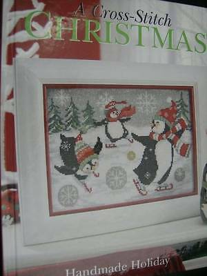 Cross Stitch Christmas Handmade Holiday Book- Penguins, Angels, Santas, Scenerie