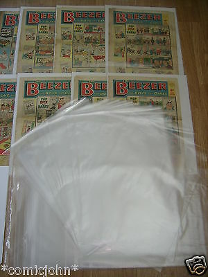 "SIZE P : 100 x STORAGE BAGS FOR NEWSPAPERS, BEEZER COMICS ETC  : 17 1/2"" X 14"""