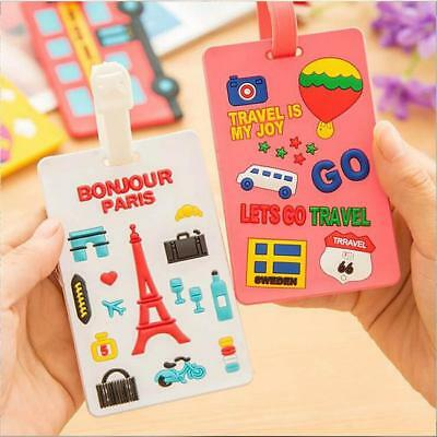 Colorful Luggage Tags Strap Name ID Suitcase Baggage Travel Label Tag Tools - SS