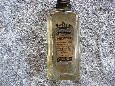 Gerald S Doyle Glycerine and Rosewater Patented Medicine Bottle 2 oz
