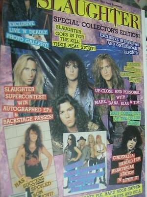 Slaughter Special Collector's Edition Magazine With Lots Of Posters