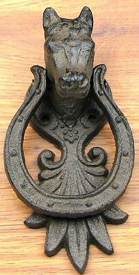 New! Cast Iron Horse Doorknocker for Entry Appeal for Equestrian Enthusiasts