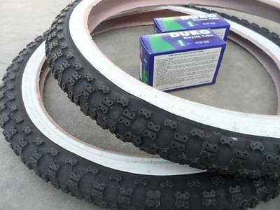 New BMX Bicycle Tires Tubes 20 X 2125 Fits 175 195 White Wall