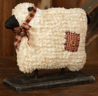 Primitive Country Sheep on Base Fabric Home Accent