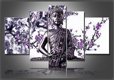 MODERN ABSTRACT OIL PAINTING Feng Shui Buddha Painting Canvas Wall Art Framed 45
