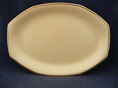 """Homer Laughlin Yellow Stone 11.5"""" Oval Serving Platter Mid- Century"""