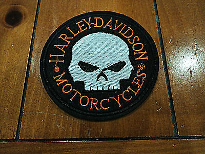 New Harley Biker Skull Embroidered Cloth Patch Applique Badge Iron Sew On