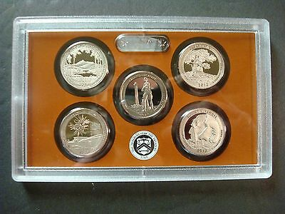 2013-S Clad Proof Set Of Five America The Beautiful Parks Quarters No Box Or Coa