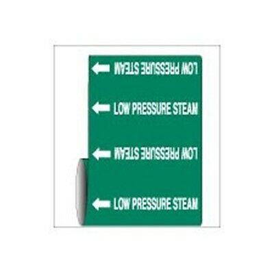 "Brady 109441 Roll Form Pipe Marker, B-946, 12"" X 30', White On Green Pressure..."