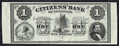 $1 Citizens Bank Of Louisiana One Dollar Note UNC 9239