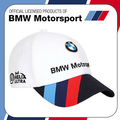 New! 2016 Official Puma BMW Motorsport Race Team Cap White/Blue - Adult One Size