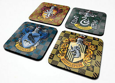 Official Harry Potter Coaster Hogwarts House Crest Drinks Mat Novelty Film Gift