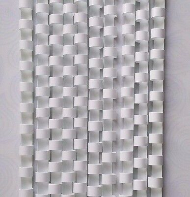 8mm White Binding Combs 21 Ring For Comb Binder Machines