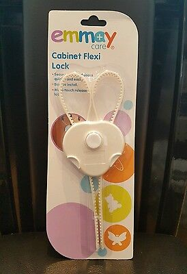 Emmay Baby And Toddler Cabinet Flexi Lock Cupboard Door Safety Multi Touch