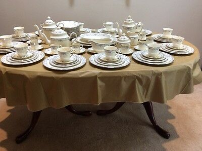 12 5piece place setting Minton china Bellemeade bowls coffee platter Demi tesse
