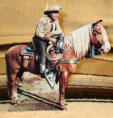 "Roy Rogers and Trigger Western Figure Tabletop Display Standee 9 1/2"" Tall"