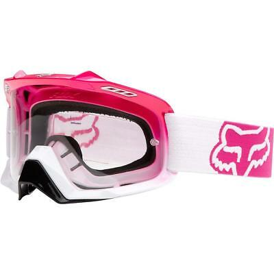 Fox Goggle Air Space Hot Pink White Fade With Clear Lens - Super SALE