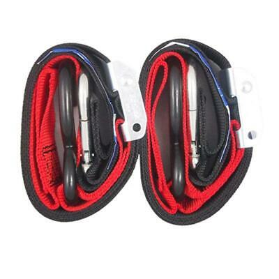 NEW Bull Bar 35mm Tie Downs Red (Pair) from Moto Heaven