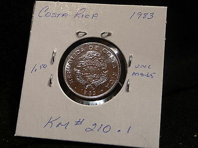 Costa Rica:   1983    1 Colon   Coin    (Unc.)    (#497)  Km # 210 .1