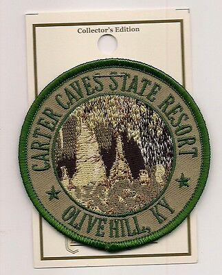 Souvenir Cave Patch - Carter Caves State Resort, Kentucky (Green)