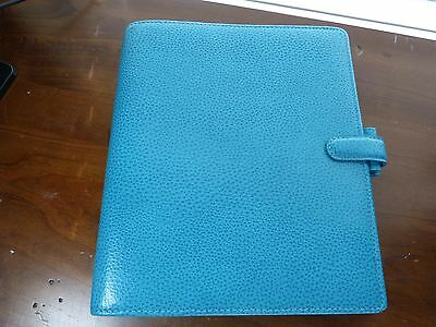 Genuine Filofax Finsbury Aqua leather organizer A5 - excellent condition