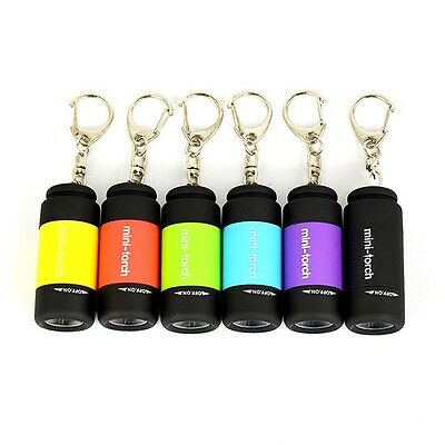 Mini USB Rechargeable LED Torch Lamp Flashlight Pocket Keychain Waterproof E2U
