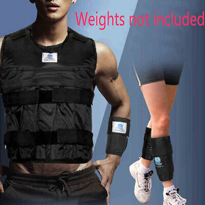 20kg/44lb Adjustable Weight Vest Hand Wrist Leg Ankle Fitness Exercise No Weight