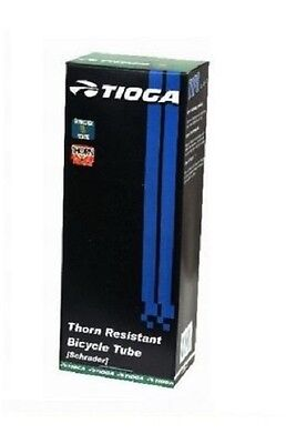 "TIOGA THORN PROOF TUBE 26""x 1.90/2.125 SCHRADER VALVE MTB BIKE TUBE VP262SV48"