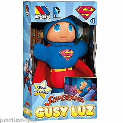Molto Gusy Luz Glowing Glow Superman Spiderman Light Up Soft Huggable Baby Toy