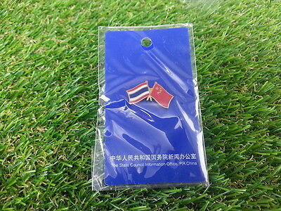 Thai Chinese Flags Pin Collectible Brooch by State Council Information Office