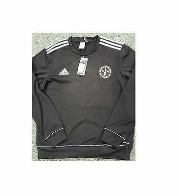 West Auckland F.C. adidas Core 11 Supporters Black Sweatshirt Size:Small