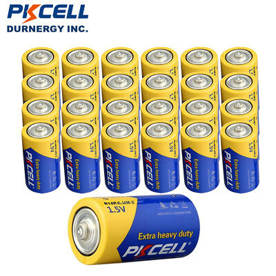 24pack Extra Heavy Duty Batteries Size C MN1400 R14P 1.5V Carbon-zinc Battery