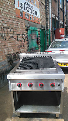 Commercial Charcoal Grill Natural Gas 4 Burner Free Standing