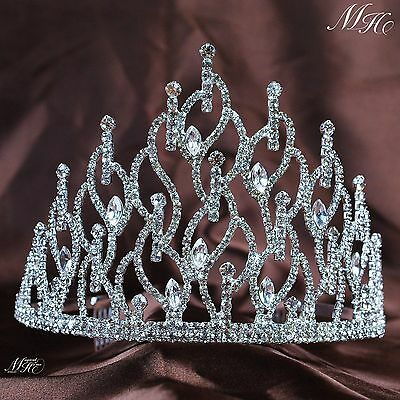 Impressive Bridal Tiaras Hair Combs Clear Austrian Rhinestone Crystal Crown Prom