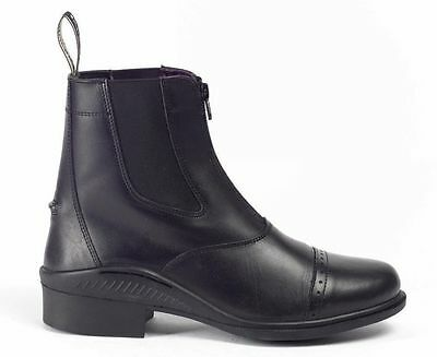 Brogini Tivoli Leather Front Zip Jodhpur Boots all sizes black and brown leather