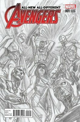 All-New All Different Avengers #1 1:200 Sketch Variant Cover by Alex Ross